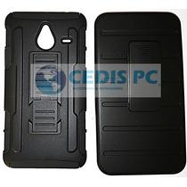 Nokia Lumia 640 Xl Protector Robot Case + Mica Glass Crista
