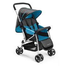 Carrinho De Bebê Passeio Vira Berço Multikds Azul Menino