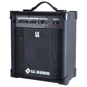 Caixa Amplificada Ll Lx 60 Cubo Guitarra Violão Mic Som Tv
