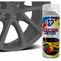 Tinta Spray Para Envelopar Roda V7 Expert 450ml Cinza Fosco