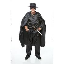 Fantasia Zorro Masculino Adulto,kit 7 Pçs (pierrot Fantasias