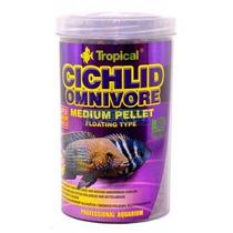 Ração P/ Peixe Cichlid Omnivore Medium Pellet 360g Tropical