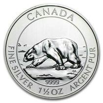 Moeda Prata .999 1.5 Oz Canada Bear (46,65gr) 2013