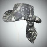 Chapéu Australiano Camuflado Com Protetor De Nuca Exército