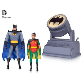 Batman Robin With Avec Bat Signal Dc Collectibles Animated
