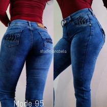 Jeans Pantalon De Dama Studio F Strechs Rotos Altos