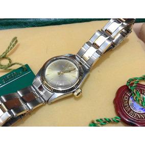 Rolex Oyster Perpetual Original Md 6917 Dama Acero Oro 18k