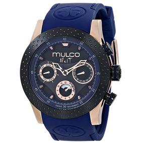 Reloj Mulco Nuit Acero Silicón Azul Unisex Mw51962445