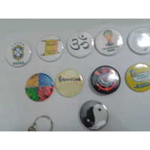100 Botons Botton Buttons Butons Broches Brindes 3,5