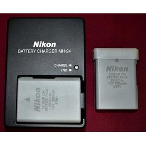 Kit Original Nikon De 2 Baterias En-el14a Y Cargador Mh-24