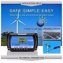Controlador De Carga Solar Usb 12/24v 30a Fotovoltaico