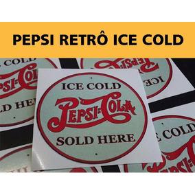 Adesivo Vinil Pepsi Retro Ice Cold - Frete Fixo R$ 7,00