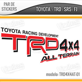 2 Vinilos, Stickers, Calcas, Toyota Trd 4x4 Tacoma, Tundra