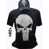 Camisetas Boné Justiceiro Marvel The Punisher Herois Caveira