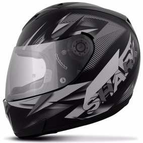Capacete Shark Helmets S700 Nasty Matt Kws Preto Cinza Fosco