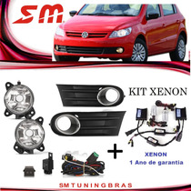 Kit Farol Milha Gol Saveiro G5 Similar Original +xenon 8000k