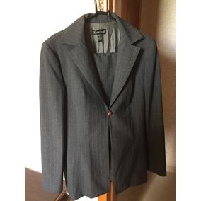 Lindo Conjunto De Blazer E Calça Cinza N. 42\44- Importado