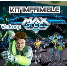 Kit Imprimible Max Steel Invitaciones Fiesta
