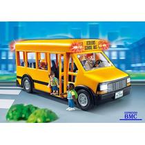 Ônibus Escolar City Life C/ 12 Peças Original Playmobil 5680