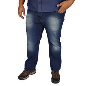 Calça Jeans Masculina Lycra Plus Size Tamanho Grande