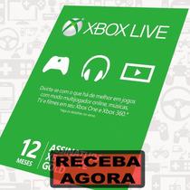Xbox Live Gold - Cartão Microsoft 12 Meses - Xbox One E 360