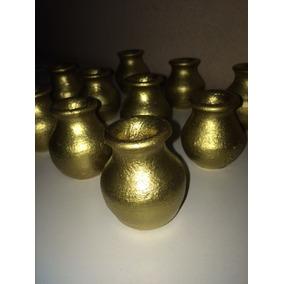 Vasos Decorativos De Barro - 5 Cm Para Casamento E Festas