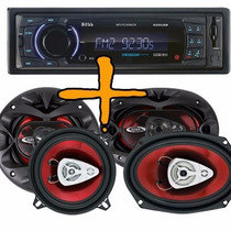 Stereo Boss Sd Usb Aux Bt Desmontable + 6x9 400w + 6.5 350w