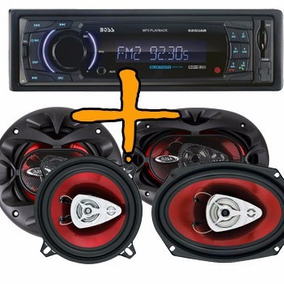 Stereo Boss Sd Usb Aux Bt Desmontable + 6x9 400w + 6.5 350w