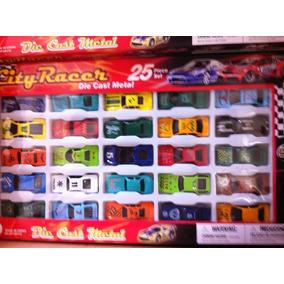 Paquete De Coleccion De 25 Carros De Juguete De Metal