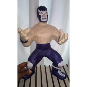 Piñata Artesanal Del Luchador Blue Demon