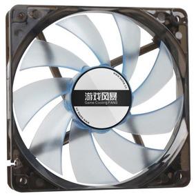 Fan Cooler 3 Pinos Led 12cm Gabinete Mesa Gamer Pc Ide Fonte