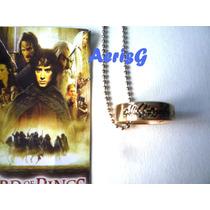 Arg Increible Collar Anillo Hobbit Señor De Los Anillos Dmm