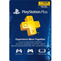 Playstation Plus 12 Meses Multi-region Ps3 Y Ps4