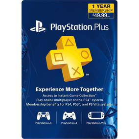 Playstation Plus 12 Meses Multi-region Ps3 Y Ps4