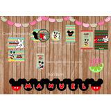Kit Imprimible Mickey Candy Bar Y Decoración