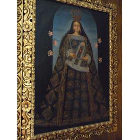 Pintura Virgen De Belén Óleo Sobre Tela (inv 1083)
