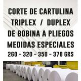 Cartulina Triplex Cortes Especiales - Cualquier Medida