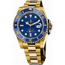 Relogio Sub-mariner Ouro Azul Automatico - Sedex Gratis