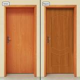 Adesivo Decorativo De Porta - Porta De Madeira - 679mlpt
