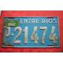 Patente Antigua Entre Rios Auto Particular 1962 Original