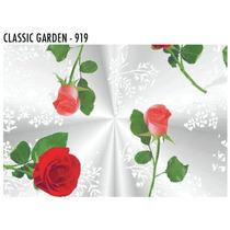 Sacos Transparente Decorado Rosas 25 X 35 Com 50 Unid