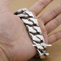 Pulseira Aço Inoxidável Masculina Bracelete Corrente Grande