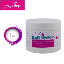Polvo Acrilico Transparente Para Uñas De Nail System 1 Oz