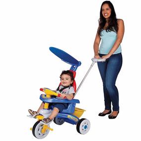 Triciclo Infantil Para Passeio Bebe Carrinho Criança