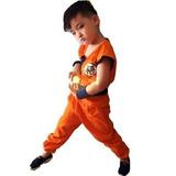 Disfraz Para Niños Traje Holran Dragon Ball Son Goku 5 Piez