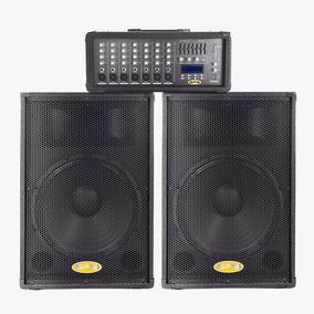 Equipo De Sonido Sps 2 Cornetas 2 Mic + Consola Amplificada