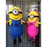Bellas Piñatas En 3d De Minions, Mickey Y Peppa