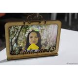 Porta Retrato Mdf Com Coroa + Nome Foto 10x15 Personalizado