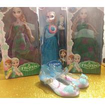 Sandália Feminina Infantil + Boneca Princesa Frozen Promoção