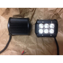 Mayoreo 6 Faros Led Flood 6x3 18w Jeep Atv,utv,awd Rzr Z71